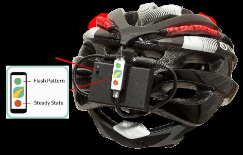 Giro-helmet-LED-light-flasher-controls